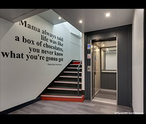 decoration murale en papier peint affichant une citation de film