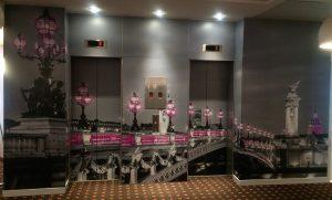 Decoration et personnalisation d'un ascenceur grâce aux revêtements Sogefab