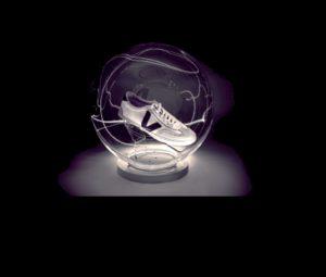 plv en plexi en forme de globe