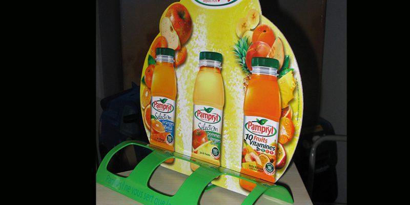 plv en plastique pour petites bouteilles