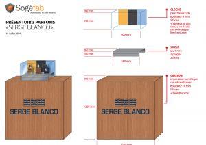 etude pour la conception d'un plv carton et plastique