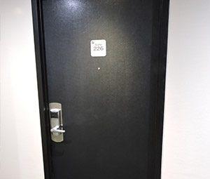 placage de porte revêtement effet cuir