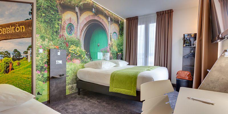 decoration murale de chambres d'hotel papier peints